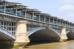 Blackfriars Railway Bridge on the river Thames, London, United Kingdom stock photo