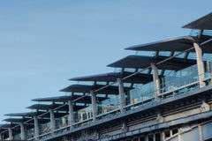 Blackfriars sztachetowej staci szczegółu Bridżowa linia horyzontu przeciw niebieskiemu niebu Zdjęcie Royalty Free