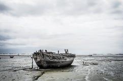 Blackground della barca Fotografie Stock Libere da Diritti