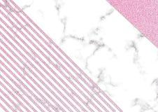 Blackground rosado del mármol del brillo, textura del brillo del reflejo, Templa foto de archivo libre de regalías