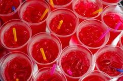 Blackground rosso della bevanda Fotografia Stock Libera da Diritti