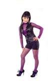 blackhaired posera för flicka Fotografering för Bildbyråer
