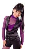 blackhaired posera för flicka Arkivbilder