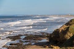 Blackhall晃动海滩,达勒姆郡,英国 免版税图库摄影
