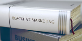 Blackhat Marketing Concept. Book Title. 3d. Royalty Free Stock Photo