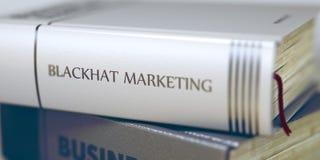 Blackhat marknadsföringsbegrepp Boktitel 3d Royaltyfri Foto