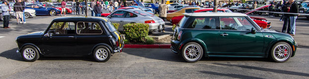 Blackhawk Cars & Coffee crescent cup rally May 4 2014 Stock Image