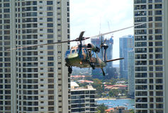 Blackhawk Chopper, Surfers Paradise, Australia Stock Photos