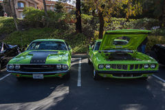 Blackhawk coffee and cars April 6th 014 Stock Photo