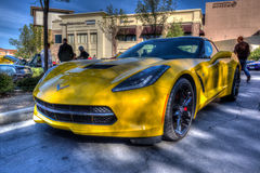 Blackhawk coffee and cars April 6th 014 Stock Image