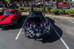 Blackhawk coffee and cars April 6th 014 Royalty Free Stock Image