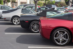 Blackhawk coffee and cars May 4 2014 Stock Images
