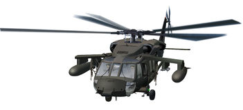 Blackhawk Helicopter. Illustration.  Support/Rescue/Attack Helo Stock Images