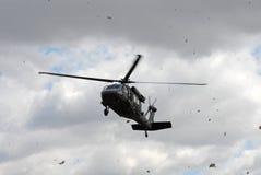 Blackhawk helicopter landing Stock Photography
