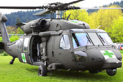 Blackhawk Helicopter Medical Evacuation Open Door  Royalty Free Stock Photography