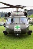 Blackhawk-Hubschrauber-medizinische Evakuierung Front View lizenzfreie stockfotos