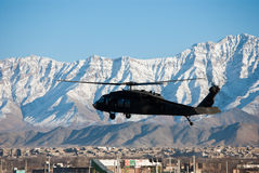 Blackhawk Landing In Kabul Royalty Free Stock Photo
