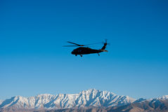 Blackhawk Over  Kabul Royalty Free Stock Images