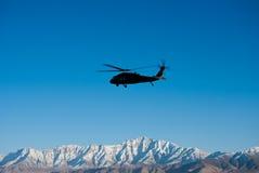 Blackhawk Over  Kabul Royalty Free Stock Images