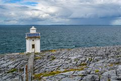 Blackhead Lighthouse, County Antrim, ireland. Stock Photos
