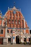 Blackhead's house in Riga, Latvia stock image