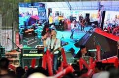 Blackhead show on Channel [v] Thaialnd anniversary Stock Photos