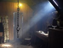Blackhouse. Arnol Blackhouse interior, Isle of Lewis, Scotland royalty free stock photography