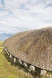 Blackhouse couvert de chaume sur l'île de Skye Image libre de droits