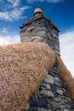 Blackhouse Kamin, Insel von Lewis, Schottland Lizenzfreie Stockfotos