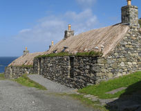 Blackhouses stock foto