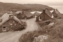 Blackhouses sur Lewis Photographie stock libre de droits