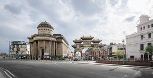 Blackie和中国镇入口,利物浦 库存图片