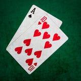 Blackjack είκοσι ένα 1 - τετράγωνο Στοκ Φωτογραφία