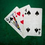 Blackjack είκοσι ένα 7 - τετράγωνο Στοκ Εικόνες