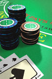 blackjack πίνακας Στοκ Εικόνες