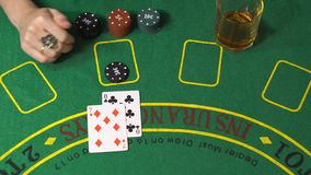 Blackjack, που χάνει στην έννοια χαρτοπαικτικών λεσχών απόθεμα βίντεο