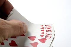 blackjack πόκερ καρτών Στοκ φωτογραφία με δικαίωμα ελεύθερης χρήσης