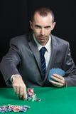 Blackjack στη χαρτοπαικτική λέσχη Στοκ εικόνες με δικαίωμα ελεύθερης χρήσης