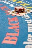 blackjack χέρι Στοκ φωτογραφία με δικαίωμα ελεύθερης χρήσης