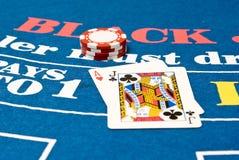blackjack χέρι Στοκ φωτογραφίες με δικαίωμα ελεύθερης χρήσης