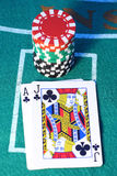 blackjack χέρι Στοκ Εικόνες