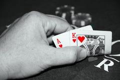 blackjack чешет рука Стоковая Фотография RF