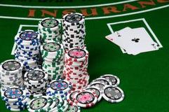 blackjack Στοκ φωτογραφία με δικαίωμα ελεύθερης χρήσης