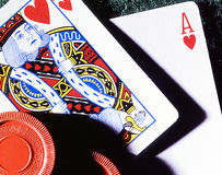 Blackjack. 21 - Blackjack...the best phase you can here when sitting at a Blackjack table Stock Images