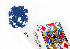blackjack Arkivfoto