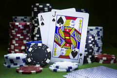 Blackjack - 21 Royalty Free Stock Image
