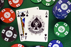 blackjack 21 Royaltyfri Bild