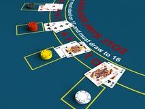 Blackjack. 3d render of blackjack table scene vector illustration