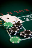 BlackJack 3. Blackjack table scene Stock Photography