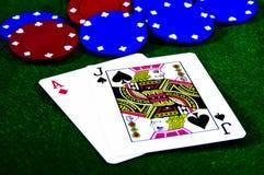 blackjack Стоковые Фотографии RF